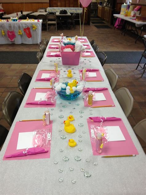 Pink Rubber Duck Baby Shower Decorations by Baby Shower Table Decorations Rubber Ducks Pink Trista