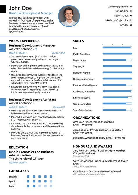 Professional Cv Template by 2018 Professional Resume Templates As They Should Be 8