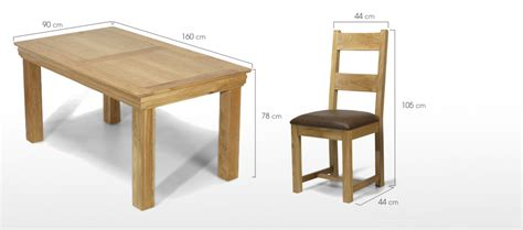 Dining Table Bench Dimensions Constance Oak 160 Cm Dining Table And 4 Chairs Quercus
