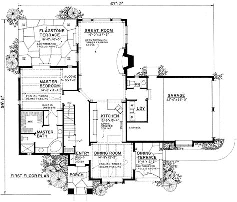 english house floor plans english cottage 43001pf 1st floor master suite corner