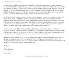 Dental Sales Cover Letter by Sle Cover Letter For Dental Assistant