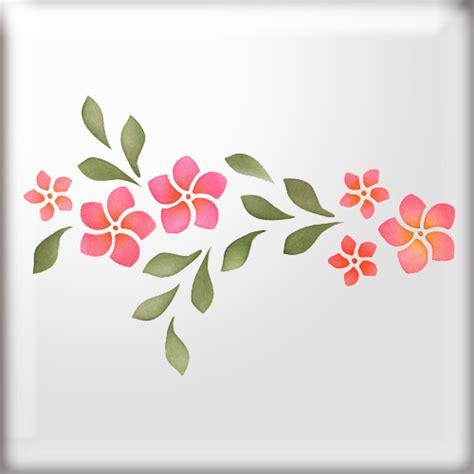 West Midlands Upholstery Frangipani Flower Border Stencil Butterflies Pinterest