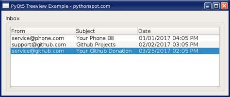 qtreeview tutorial python page 2 python tutorial