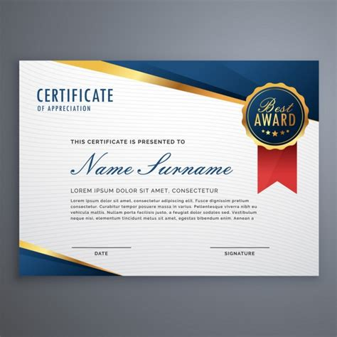elegant diploma with seal vector free download