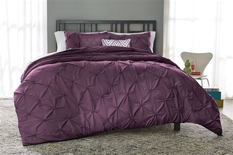 plum bedding colormate solid pintuck comforter set plum home bed bath bedding comforters