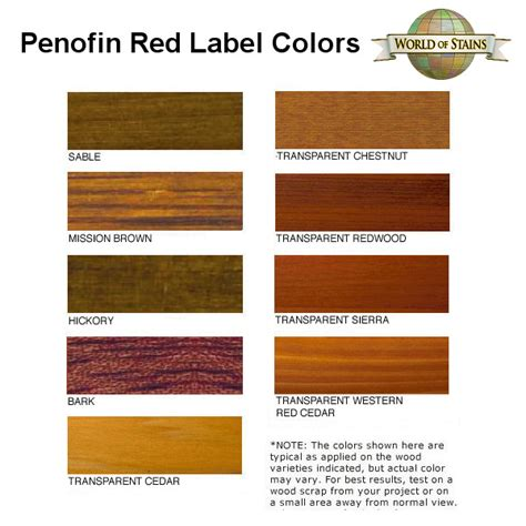 world of stains color charts stain colors links to