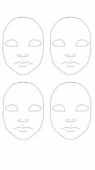 doll face painting practice sheet by oceanblue art on