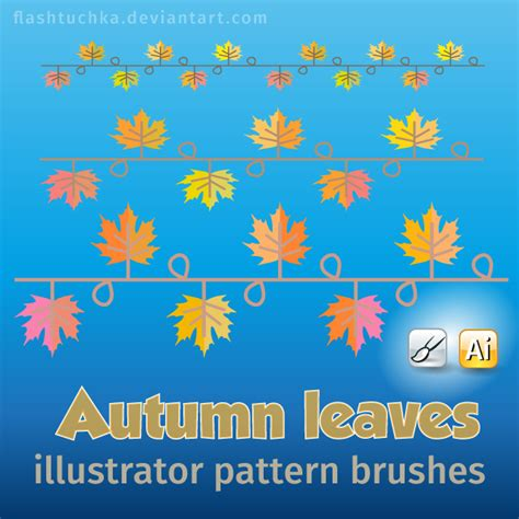 illustrator pattern leaves autumn leaves illustrator brushes by flashtuchka on deviantart