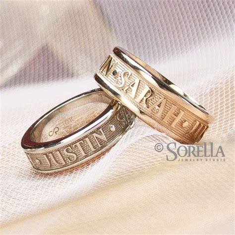 Ring Nama crafted personalized message or name ring in 14k gold