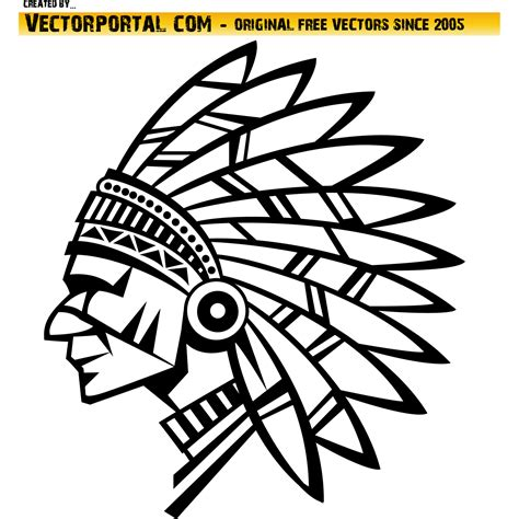 eps native format vector for free use american native vector