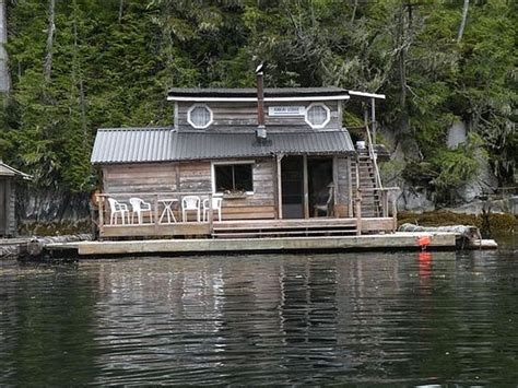 house boat vancouver island floating cabin off the coastline of vancouver island in