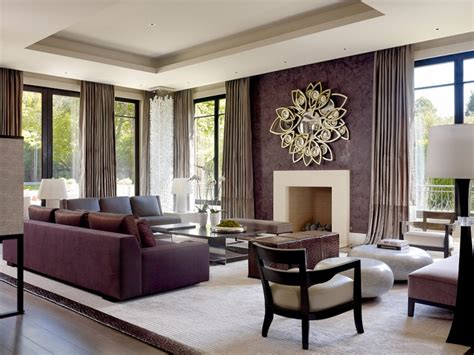 living room with purple sofa 19 purple and gold living room designs decorating ideas