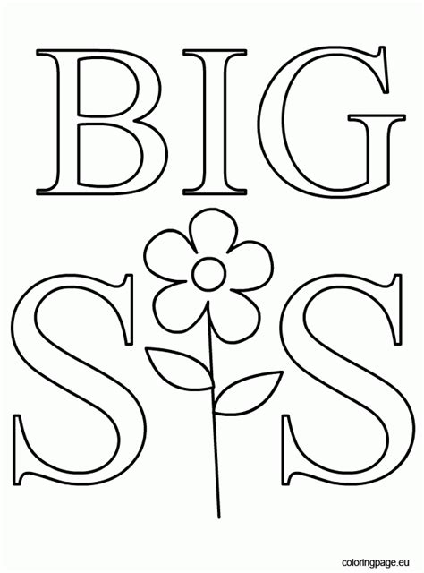Big Sister Coloring Page Az Coloring Pages Big Printable Coloring Pages