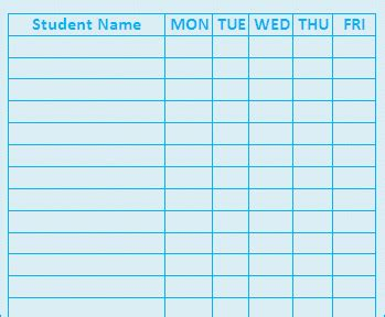 blank attendance sheet template weekly attendance sheets new calendar template site