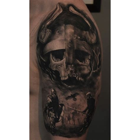 viking skull tattoos viking skull ideas for best tattoos