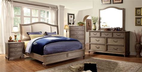 4 Piece Belgrade Ii Platform Rustic Upholstered Bedroom Bedroom Sets For