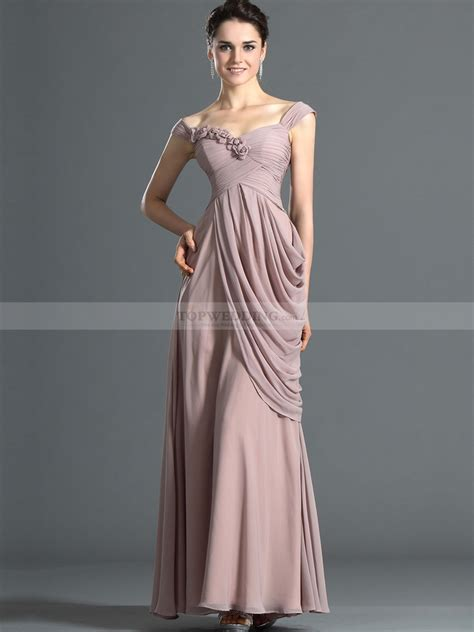 how to drape a dress cap sleeved ruched surplice bodice long chiffon evening