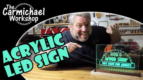 how to make a light up sign how to make a light up acrylic led sign youtube