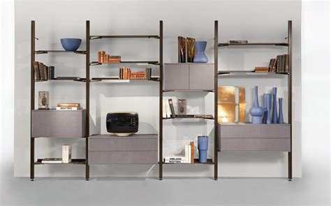 Living Room Wall Shelves transpace bookcase design sacha lakic for roche bobois