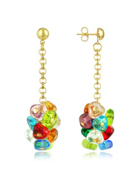glass jewelry antica murrina rubik murano glass drops earrings lyst