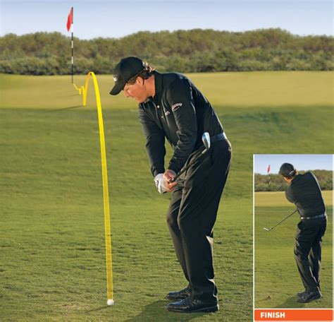 pitch swing phil mickelson how to hit 2 basic pitches and chips