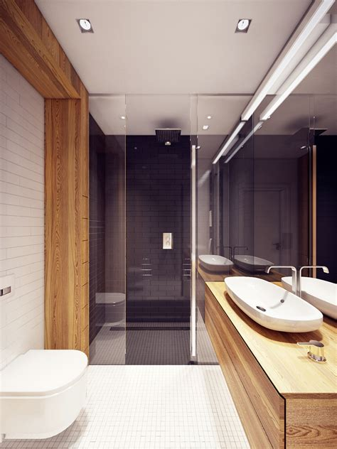 sleek bathroom design colorful modern apartment design uses space to beautiful