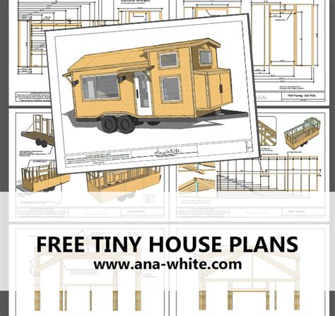 Blue Prints For Homes by Ana White Quartz Tiny House Free Tiny House Plans