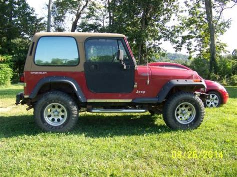 1992 Jeep Wrangler Top Find Used Clean 1992 Jeep Wrangler And Half Doors