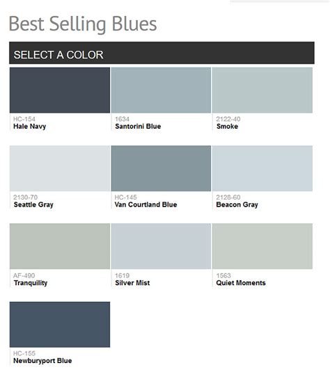 popular blue gray paint colors benjamin
