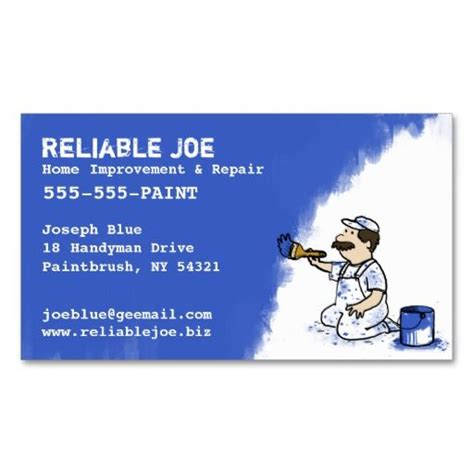 painter business card template business card templates painters and business cards on