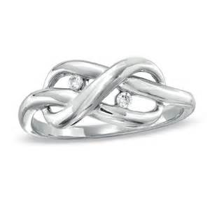 Zales Infinity Ring Accent Infinity Knot Ring In Sterling Silver