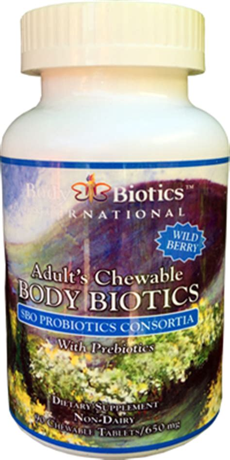 Detox Sbo by Biotics Chewable Sbo Prebiotic Probiotic