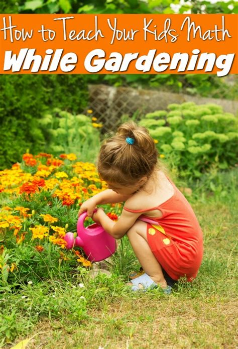 easy ways to teach your math while gardening