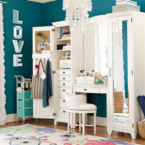 girls bedroom vanity hton vanity tower super set pbteen