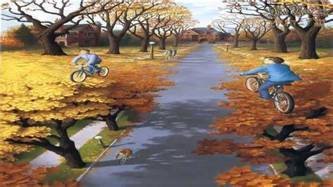 ilusiones opticas con personas las 25 pinturas con ilusiones 211 pticas youtube