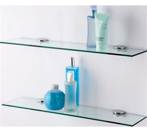 bathroom shelves argos buy home glass shelves pack of 2 at argos co uk your