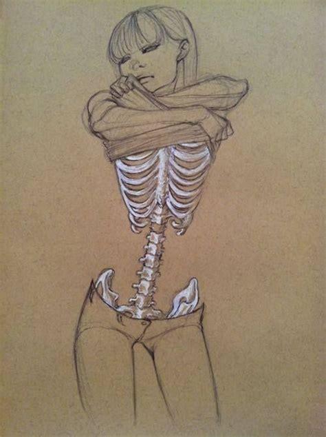 skeleton girl skeleton drawing art pinterest girls