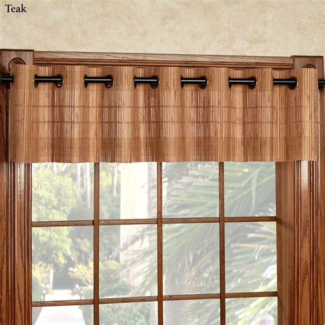 Bamboo Curtains For Windows Bamboo Light Filtering Grommet Window Treatment