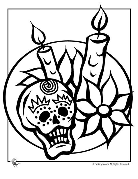 halloween coloring pages day of the dead free day of the dead mask coloring pages