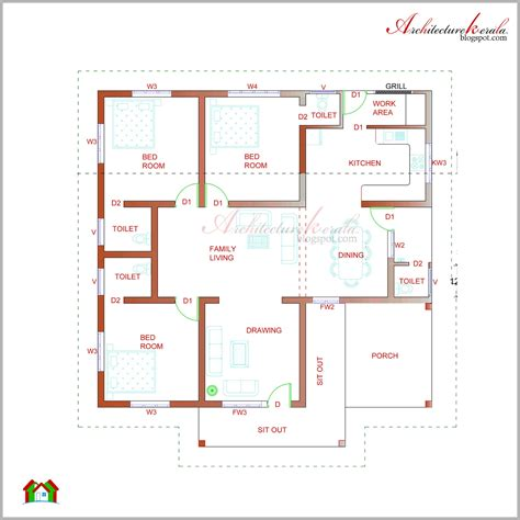 Kerala Style House Floor Plans | architecture kerala beautiful kerala elevation and its floor plan