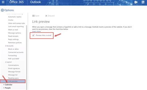 outlook layout email preview how to turn off link preview in outlook on web using
