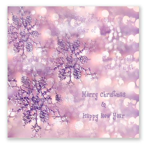 sparkly snow flakes christmas cards pack of 10 by amanda