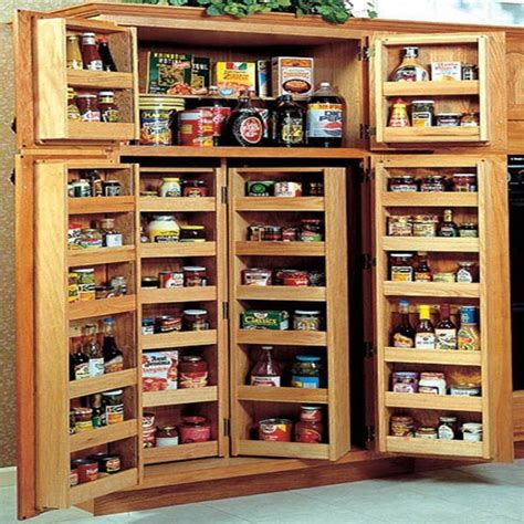 Used Kitchen Pantry Cabinet Pantry Cabinet Shallow Pantry Cabinet With Bright Freestanding Pantry In Kitchen Traditional