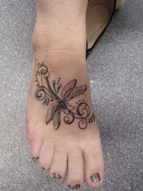 foot design tattoos dragonfly tattoos designs ideas and meaning tattoos for you