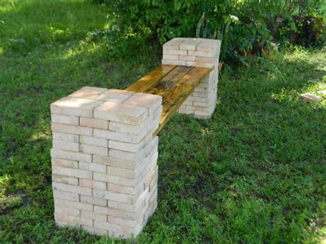diy stone bench make a diy stone and wood bench quickly and easily dengarden