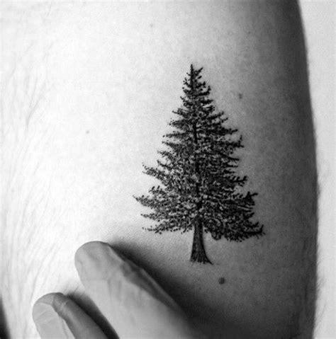 small pine tree tattoo 60 small tree tattoos for masculine design ideas