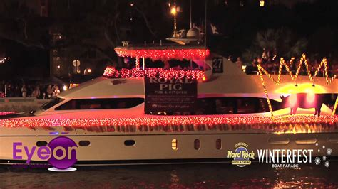 fort lauderdale boat show parade 2012 winterfest boat parade youtube