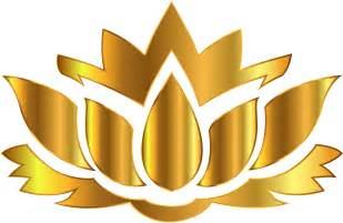 Gold Lotus Clipart Gold Lotus Flower Silhouette No Background