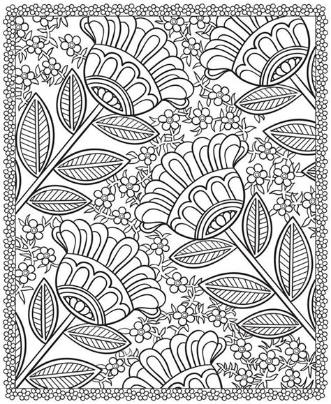 coloring pages designs flowers free printable pyrography patterns woodworking projects