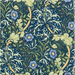Victorian Style Upholstery Fabric William Morris Seaweed Interior Ceramic Wall Tiles